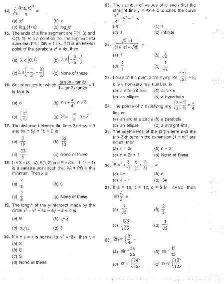 Cat entrance exam previous year question papers 2016 2017 autos post for Interior design exam questions