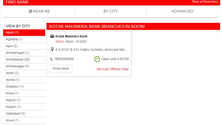 kotak mahindra bank branches in bangalore dating