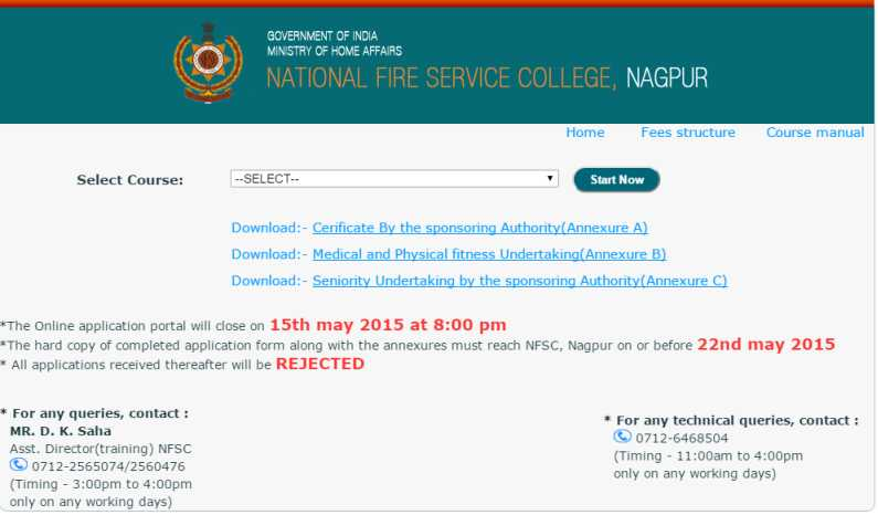 National Fire Service College Nagpur Results   Studychacha