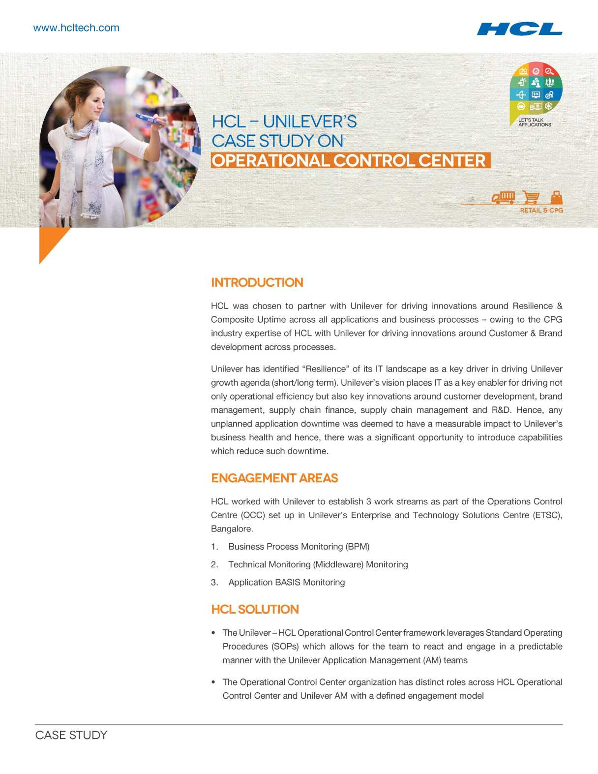 unilever philippines inc case study Client case study  unilever wanted to double the company's size while  reducing its overall environmental footprint and increasing its positive social.