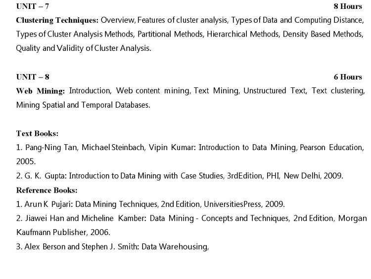 VTU Data Mining Notes - 2018-2019 StudyChaCha