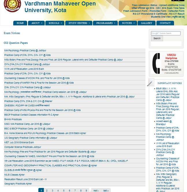Www vmou ac in time table 2018 2019 studychacha for Rtu 4th sem time table