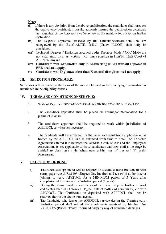 Apepdcl Hyderabad 2018 2019 Studychacha