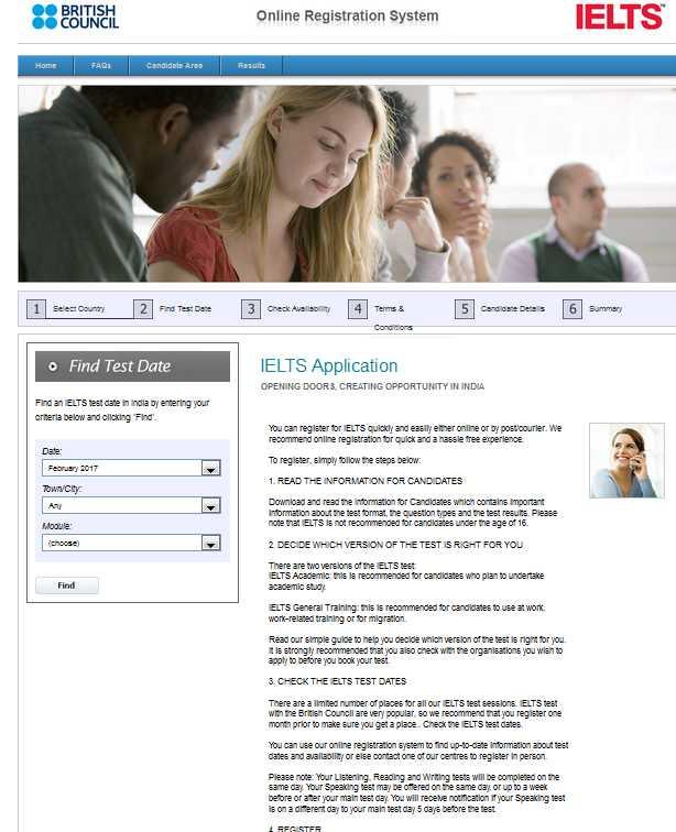 Ielts test dates online booking in Australia