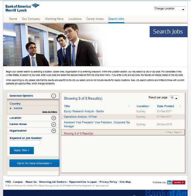Bank Of America Corporation Client Service Representative ...