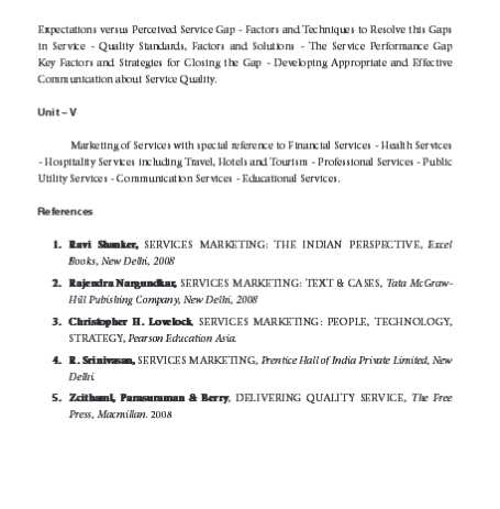 MBA Service Marketing Notes Pdf - 2018-2019 StudyChaCha