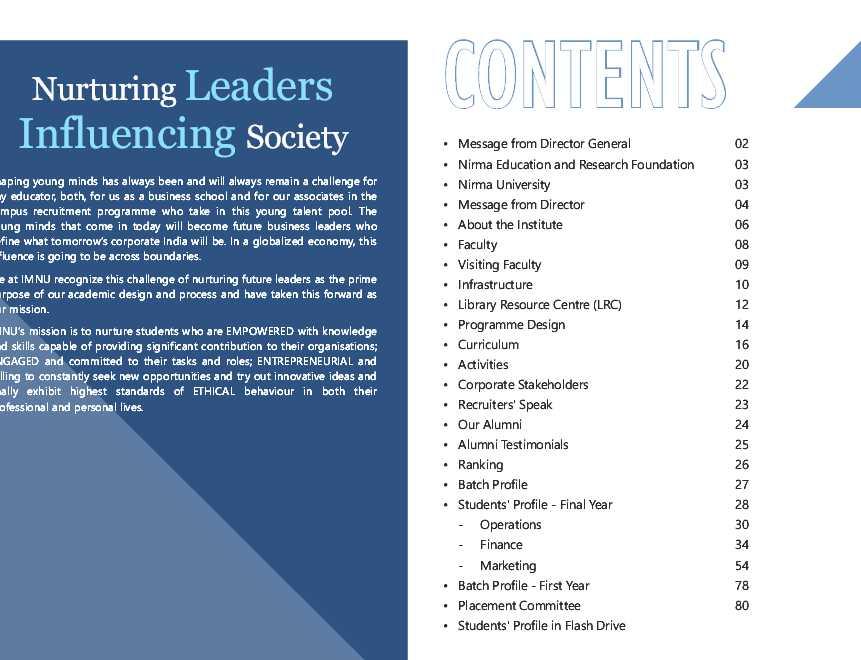 Nirma university placement brochure 2018 2019 studychacha for Placement brochure design