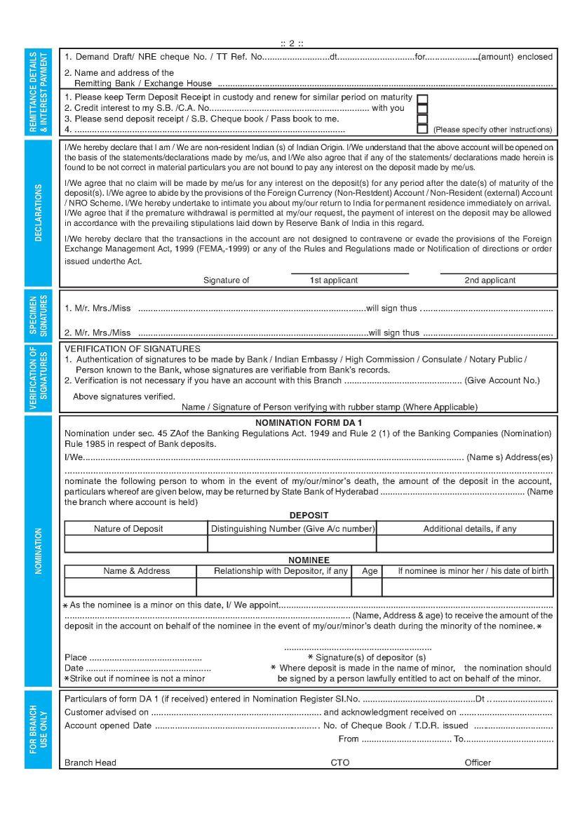 Download NRI forms
