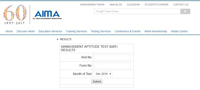 Www Aima Ind Org Mat Centre Aspx Result 2018 2019