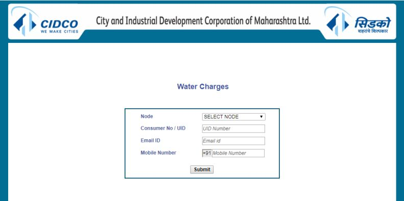 CIDCO Online Water Bill Payment - 2018-2019 StudyChaCha