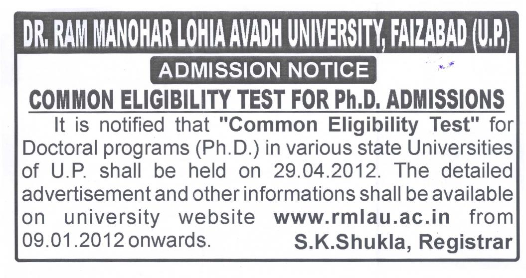 Click image for larger version  Name:Avadh University Phd CET Admission Notification.jpg Views:39 Size:106.1 KB ID:446