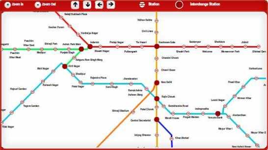 Dilshad Garden To Rithala Metro Station Map | Fasci Garden