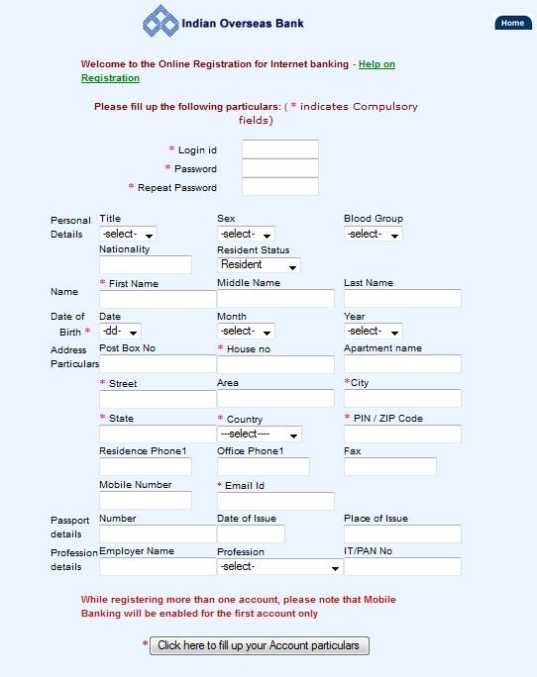 SBI Net Banking Form – Download SBI Online Application Form
