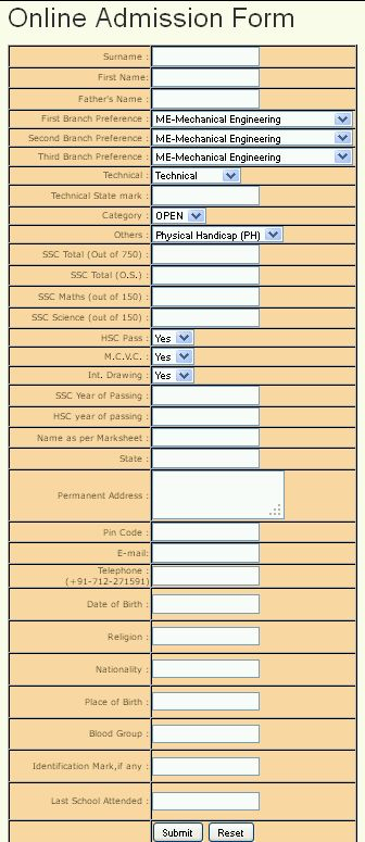 Shankarrao-Dhawad-Polytechnic-College-online-application-form Online Application Form For Birth Certificate In Maharashtra on