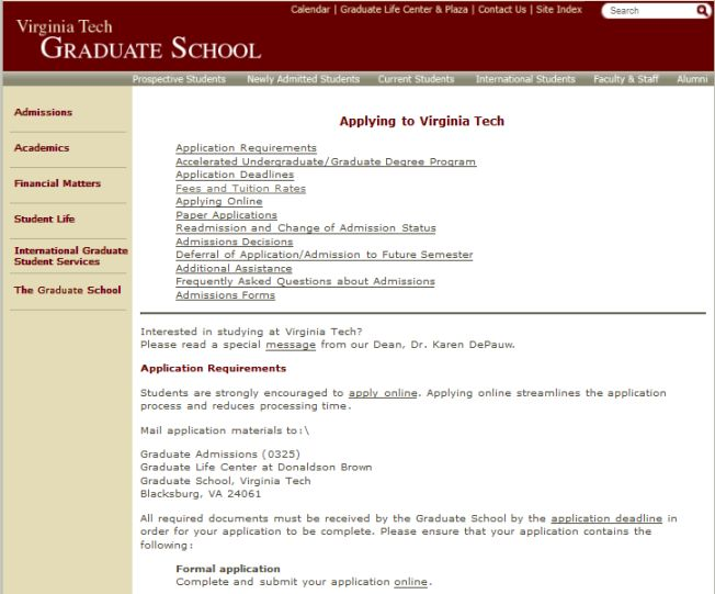 Virginia Tech Masters Admissions 2020 2021 Studychacha