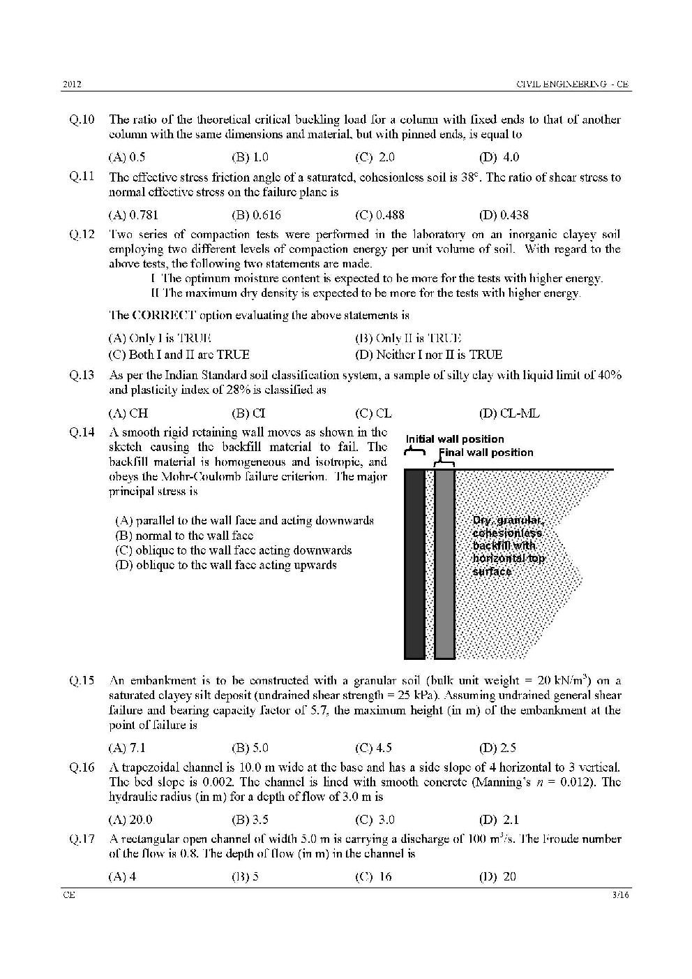 Gate Previous Question Papers Pdf