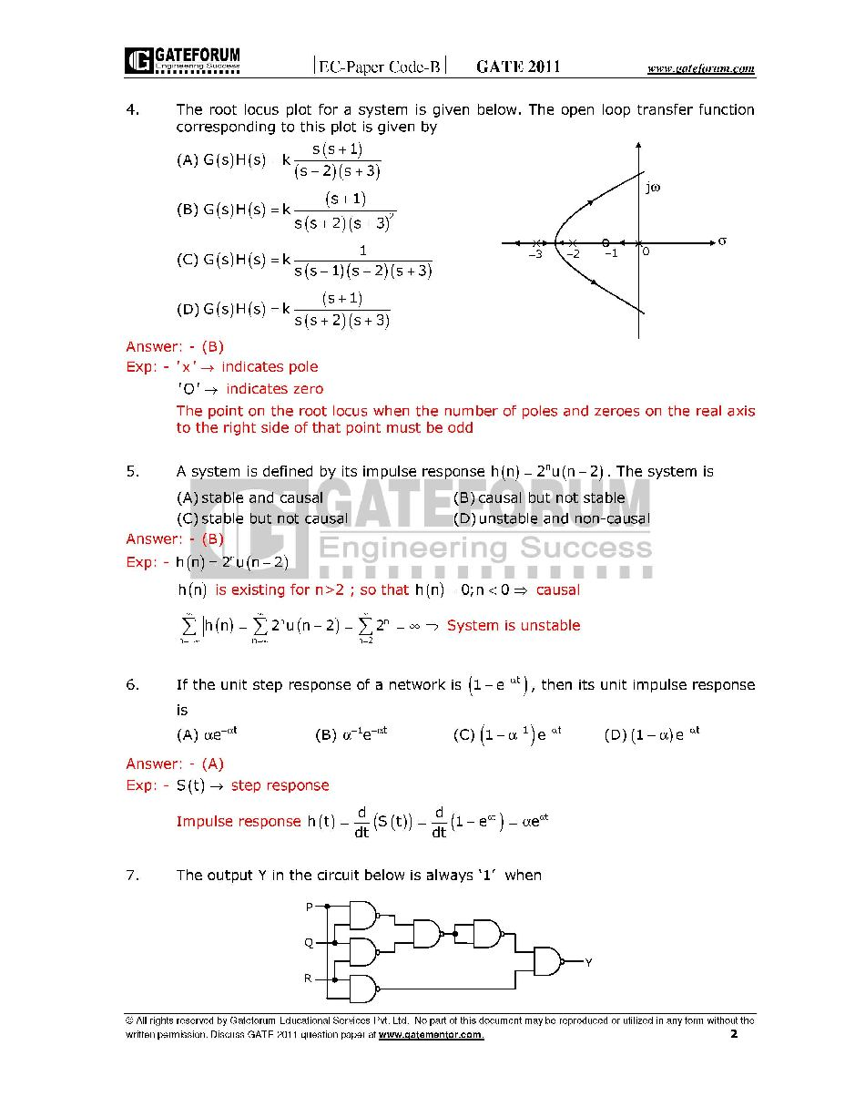 Gate Model Question Papers For Ece With Answers Pdf