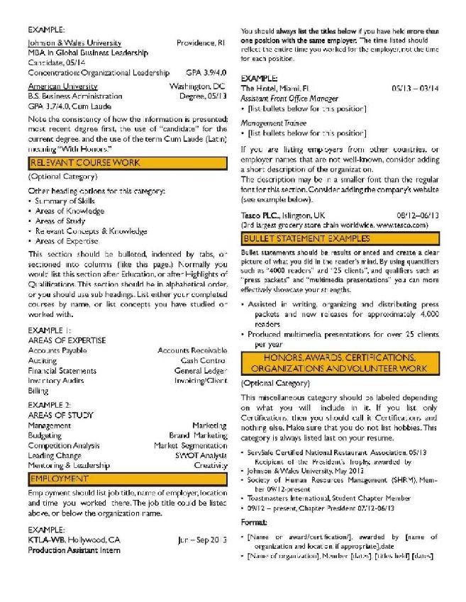 Career Objective Mba Finance Resume 2018 2019 Studychacha