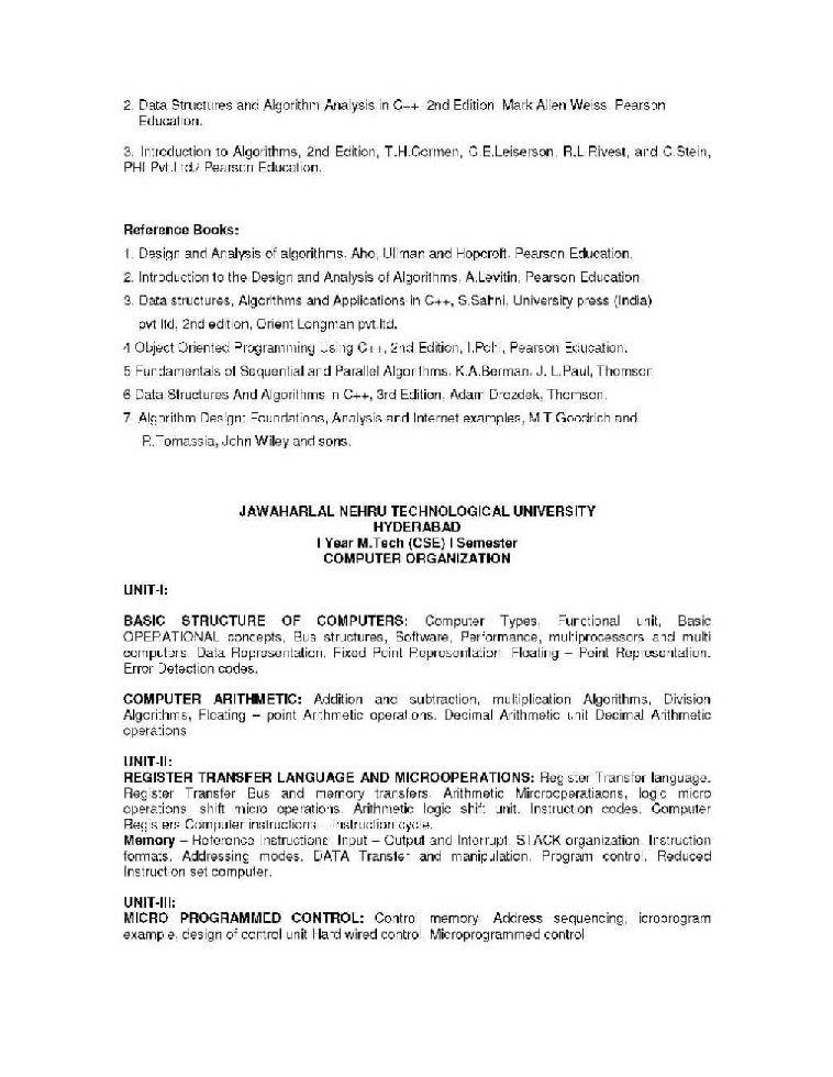 M Tech Syllabus For Jntu 2020 2021 Studychacha