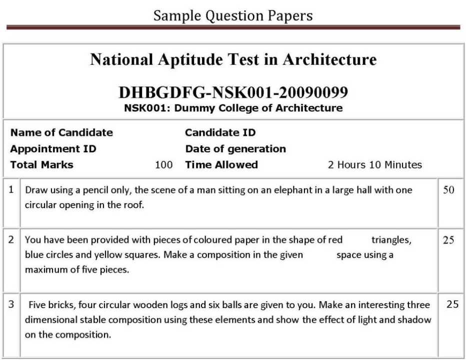 Nata Question Paper Pdf