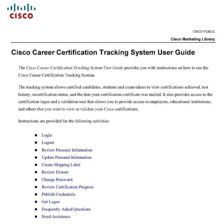 CISCO Certification Tracking System - 2018-2019 StudyChaCha