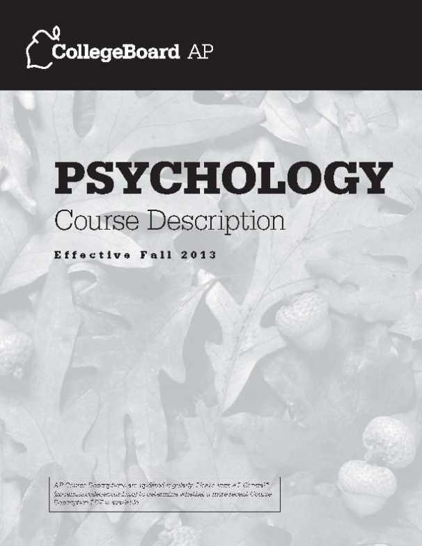 college board ap psychology practice test