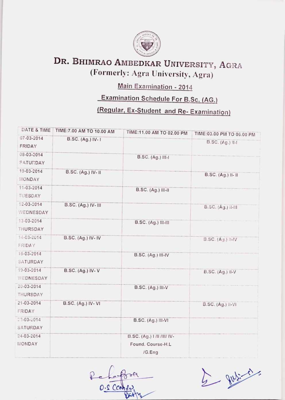Agra University Scheme 2016 Pdf