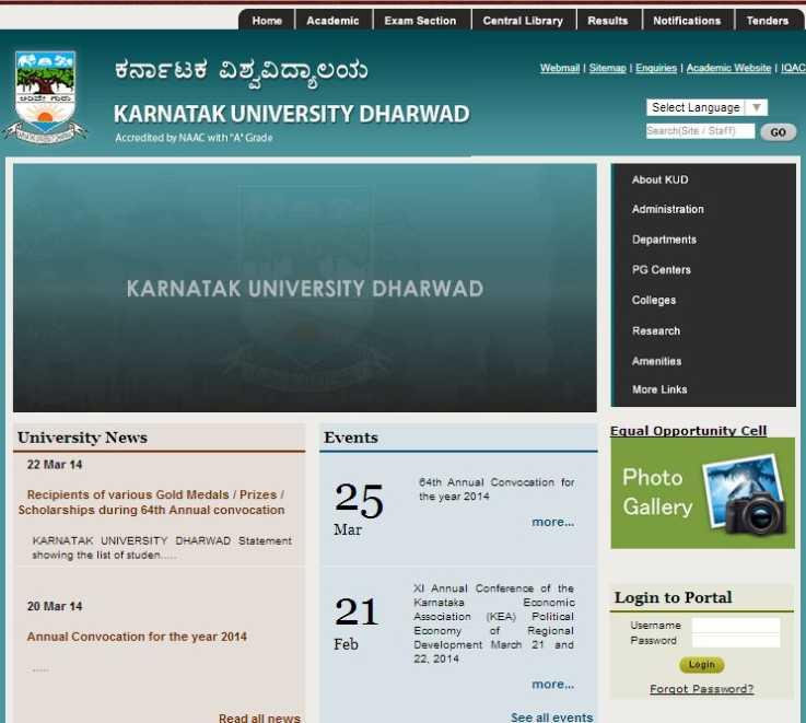 Central University Of Karnataka: Dharwad University Karnataka Website
