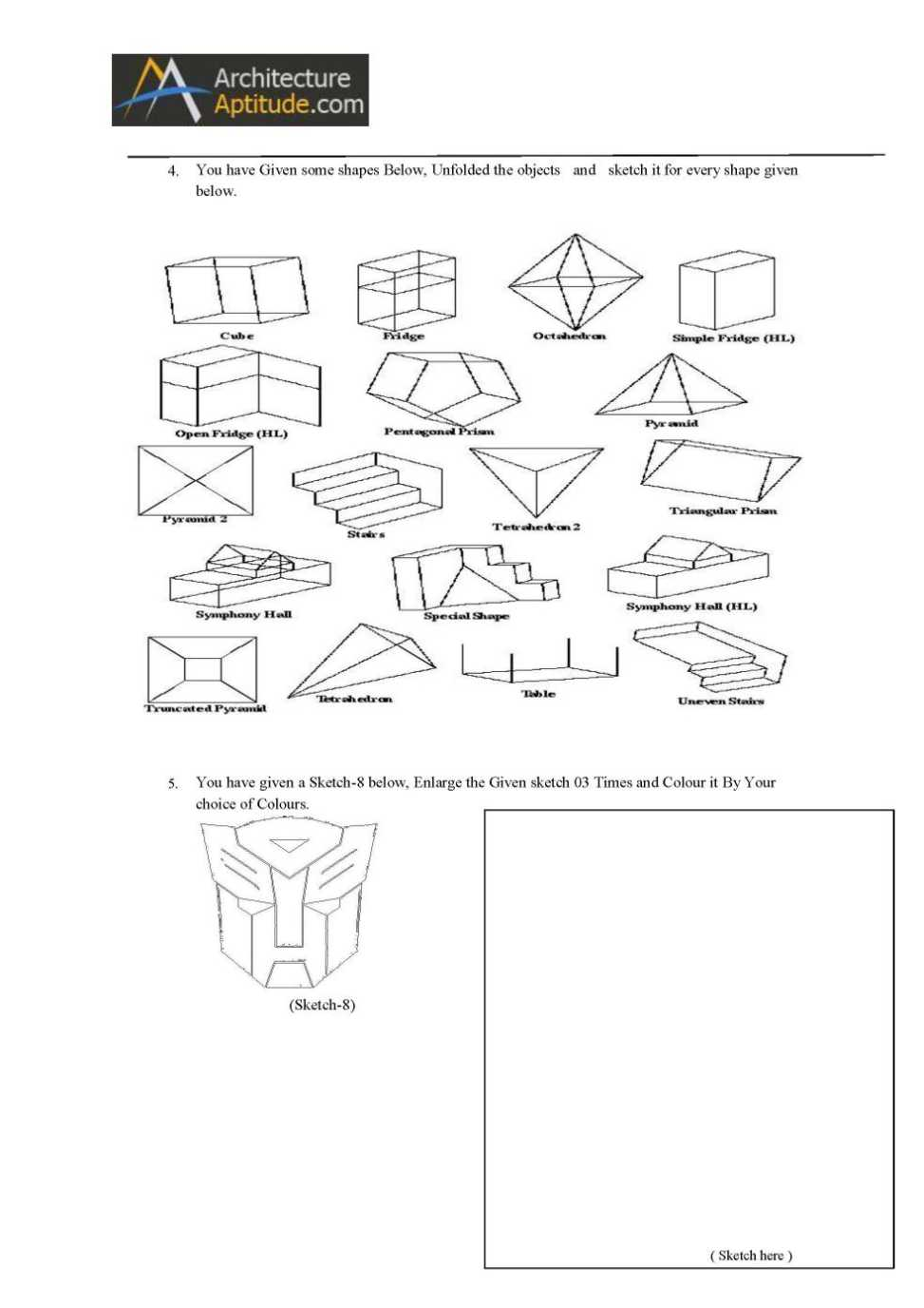 Nata sample papers, nata question paper, nata classes in chennai.