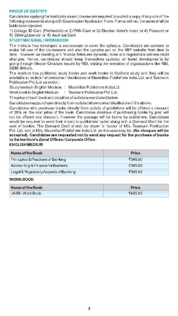 Workbooks jaiib workbook : Diploma in Banking and Finance IIBF eligibility and syllabus ...