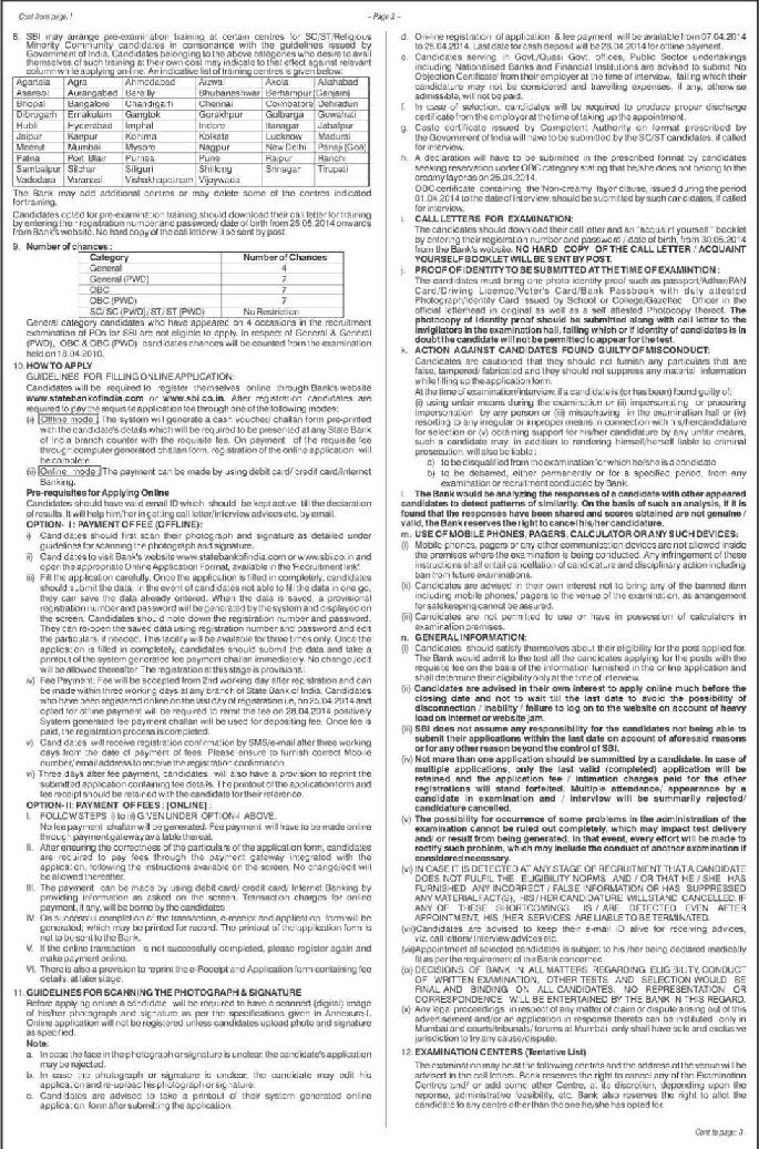 State Bank of India (SBI) Examination - 2018-2019 StudyChaCha