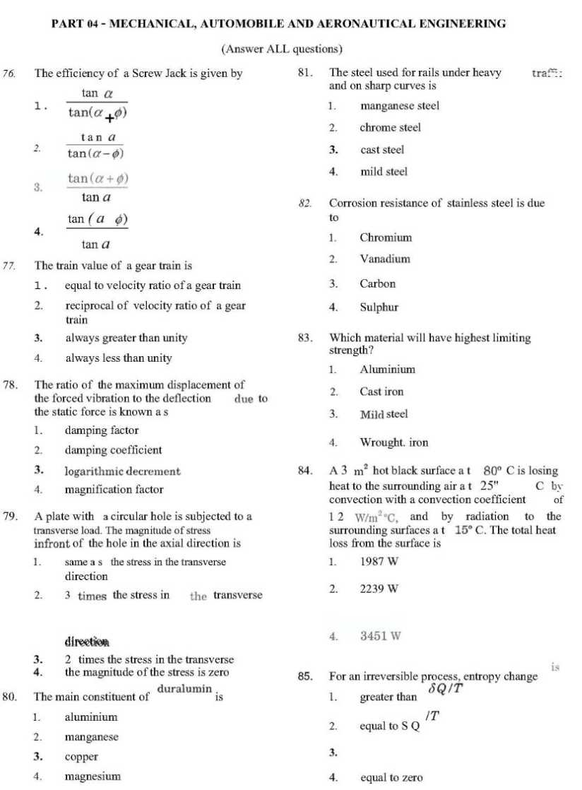 Tancet Model Question Paper For Mca With Answer Pdf