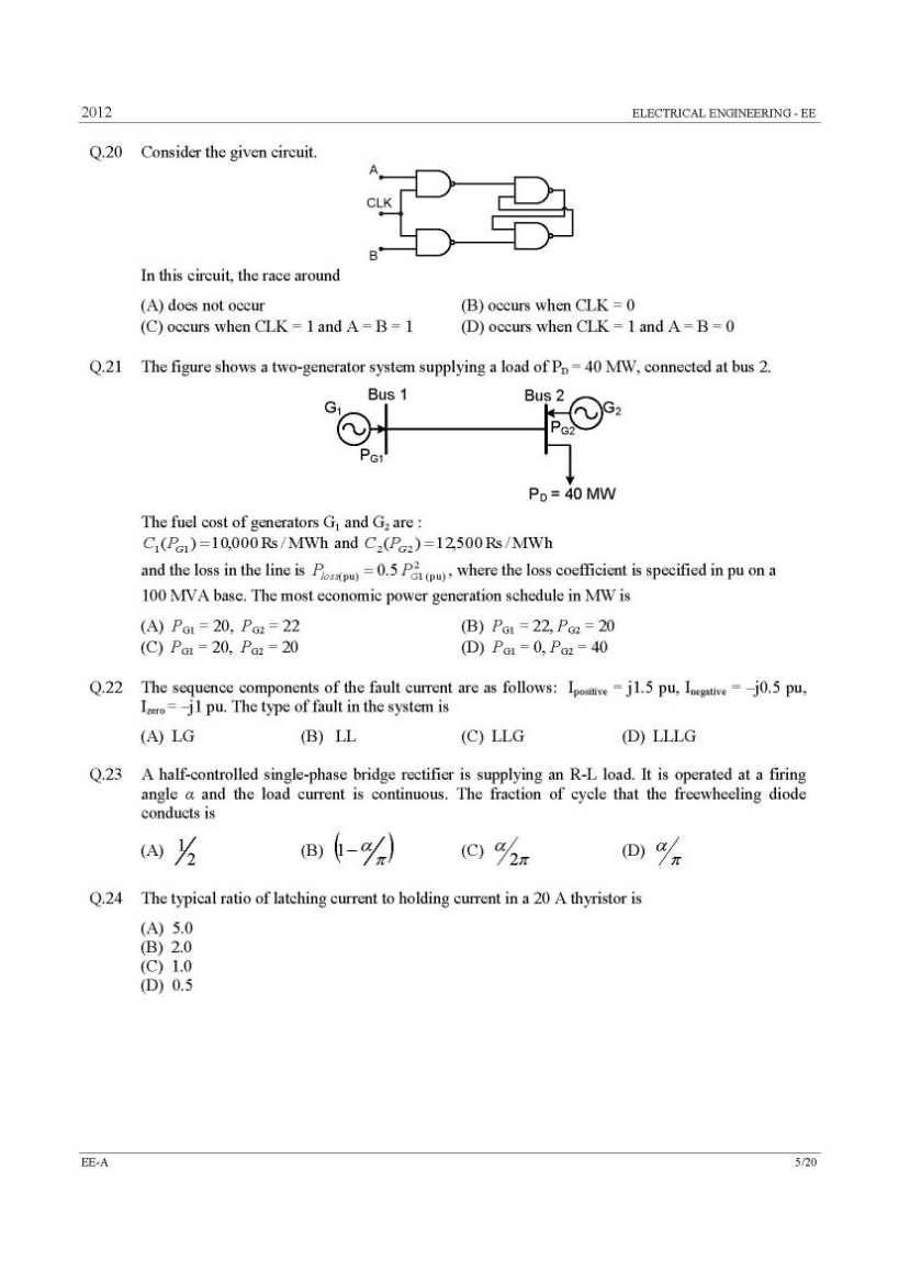 Electrical engineering question and answers pdf