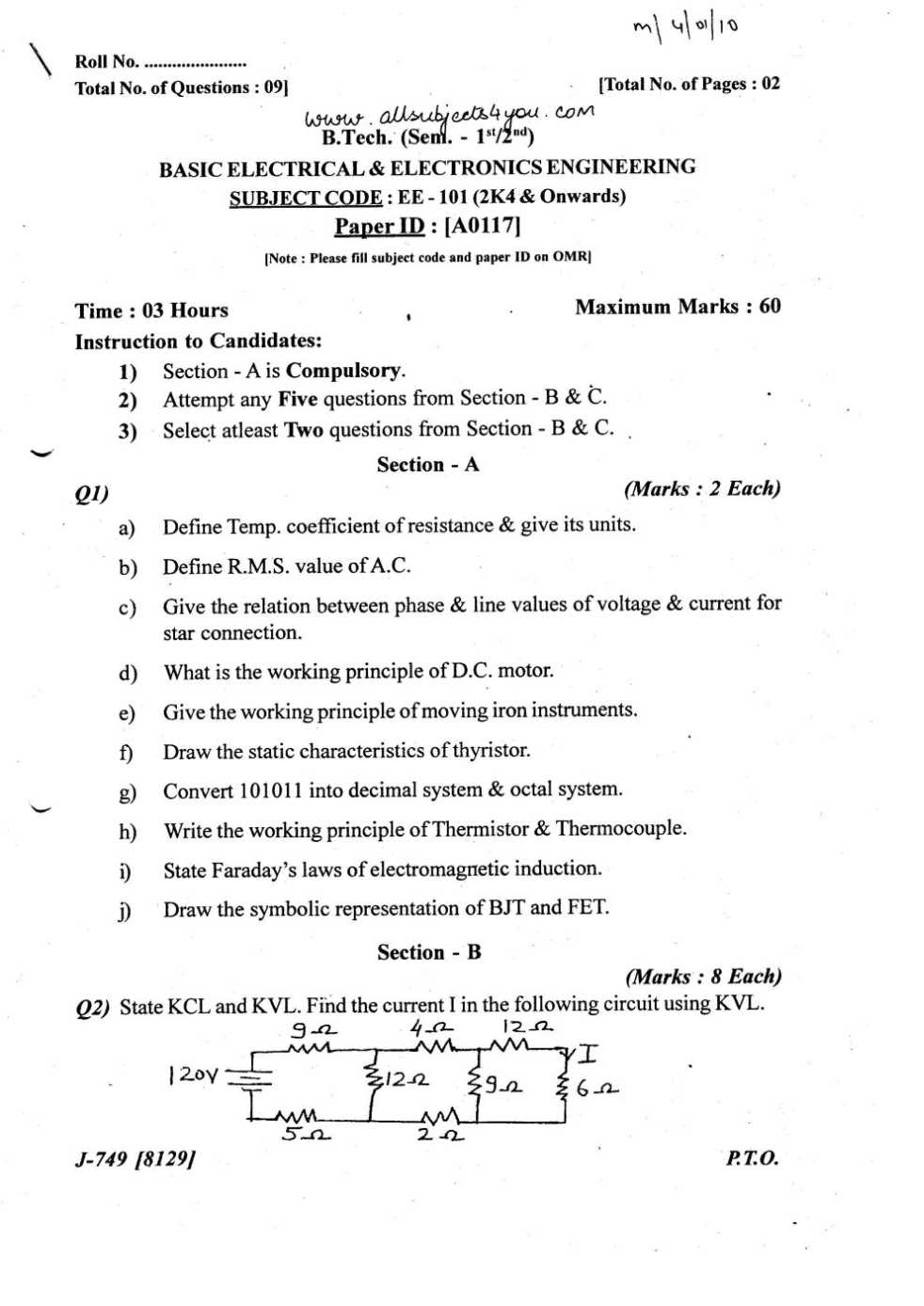 Electrical Drawing Question Papers Questions Engineering Paper The Wiring Diagram
