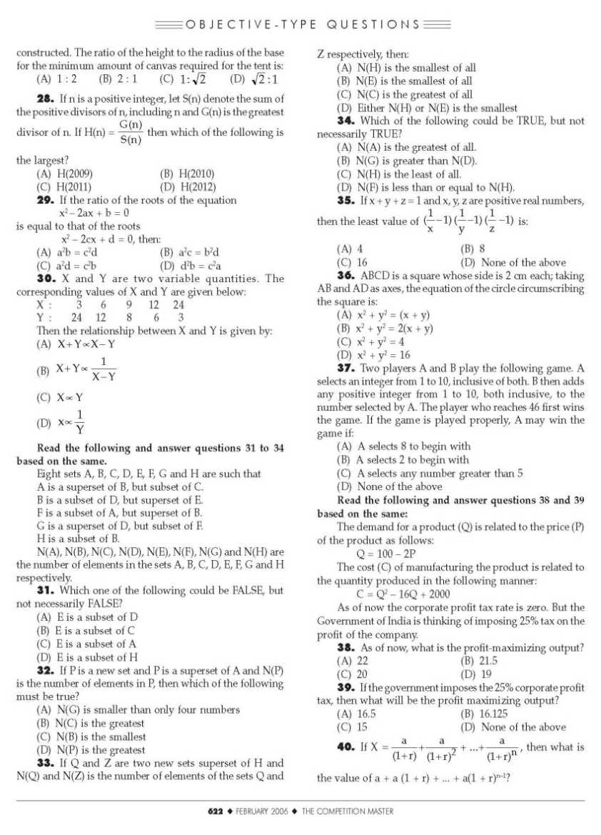 Xavier Aptitude Test previous year question papers - 2018