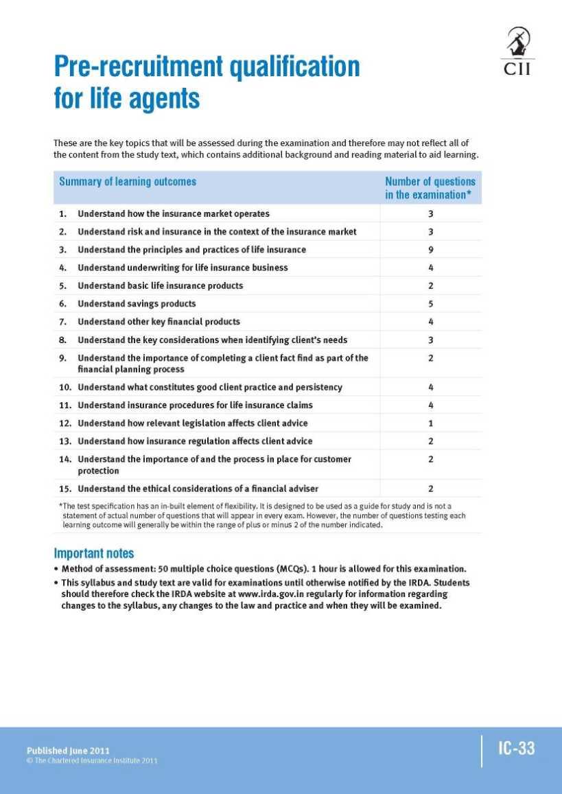 Ic 33 Exam Pdf