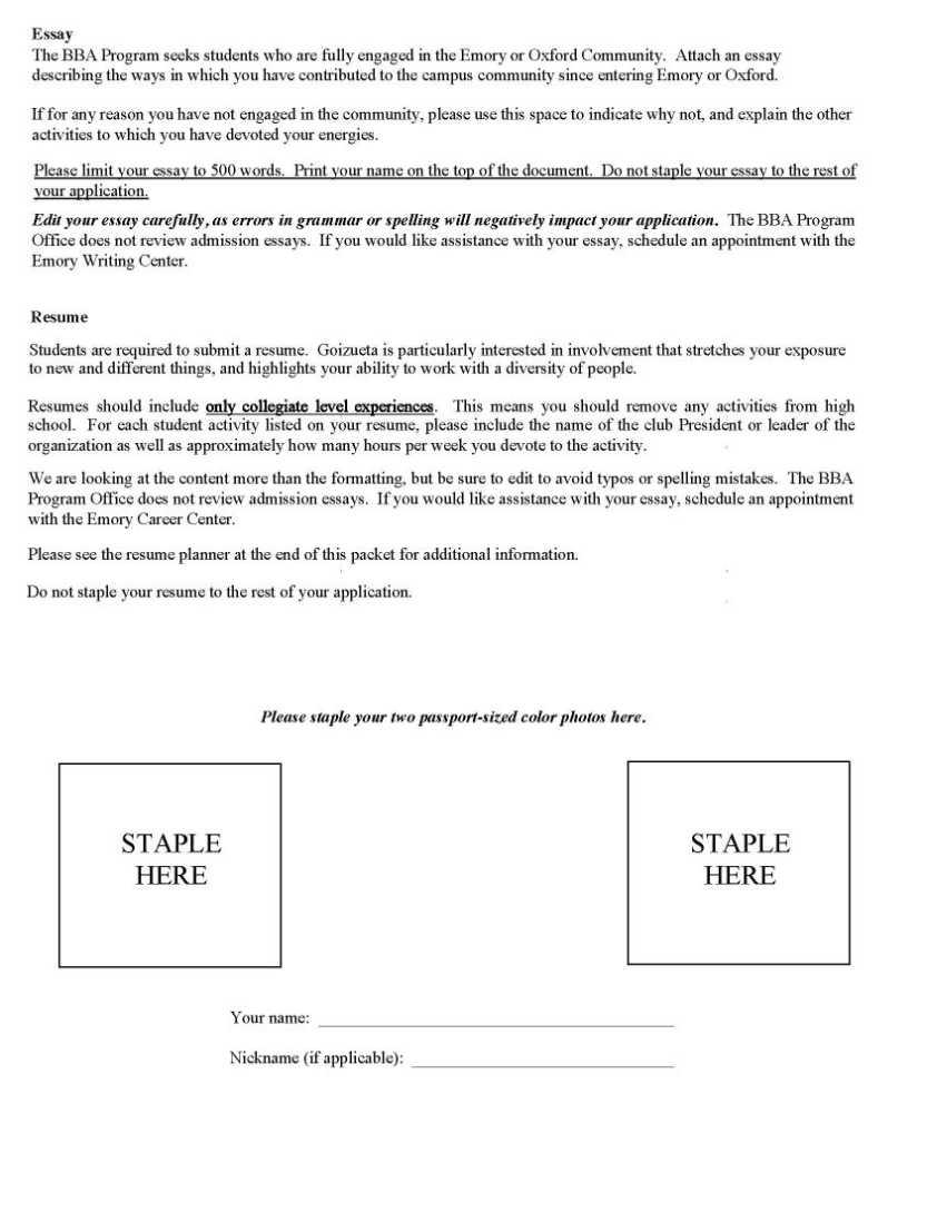Emory Admission Form 2021 2022 Studychacha