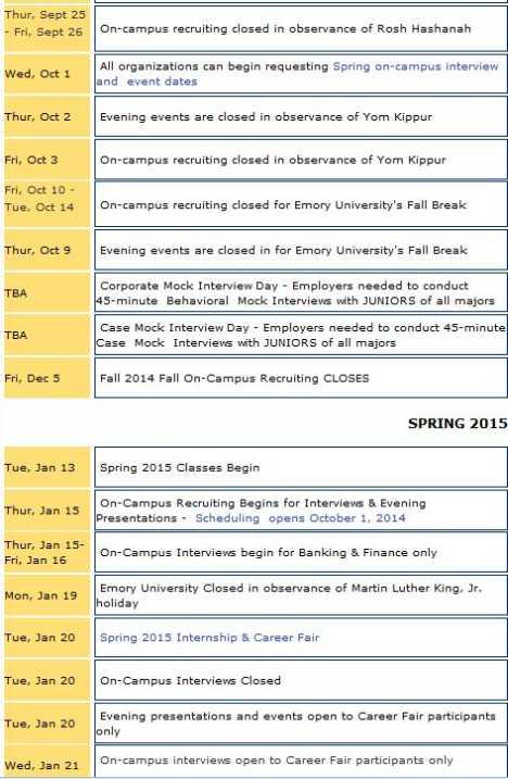 Emory Academic Calendar Spring 2022.Emory Career Center 2021 2022 Studychacha