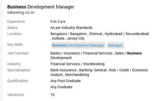 Jobs for MBA International Business Fresher MBA International Business Jobs  - 2020-2021 StudyChaCha