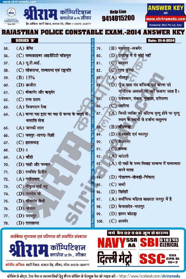 Real police 2018 Exam paper pdf Download