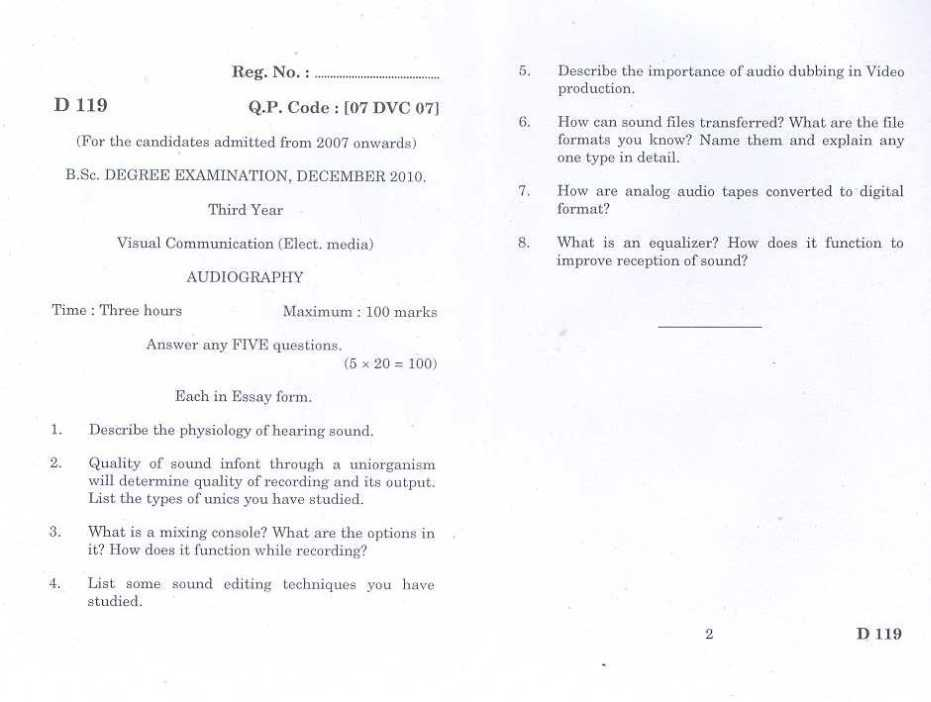 Bharathiar University Question Papers For Bsc 2020 2021 Studychacha