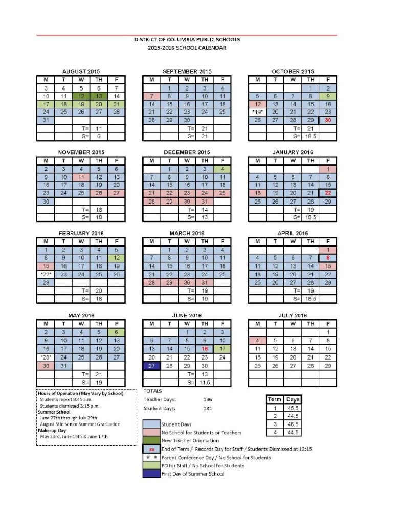 Columbia Academic Calendar 2022.Dc Public Schools Calendar 2021 2022 Studychacha