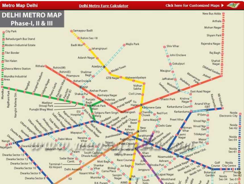 Delhi Metro Map 2015 Pdf