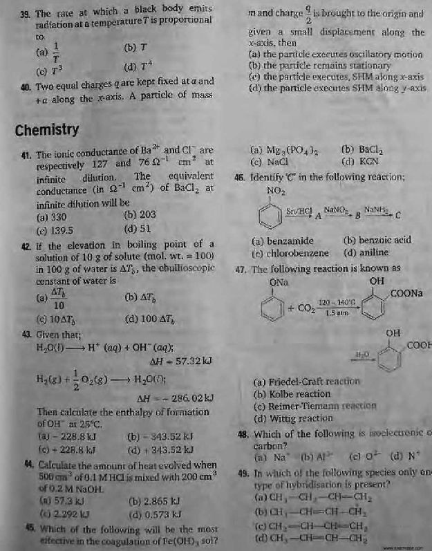 Bitsat Previous Year Question Paper With Solution Pdf