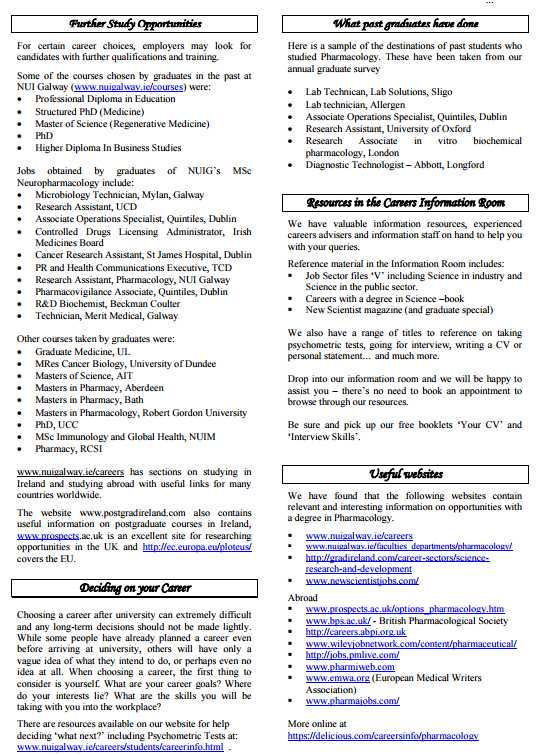 Career Opportunities In Pharmacology - 2018-2019 StudyChaCha
